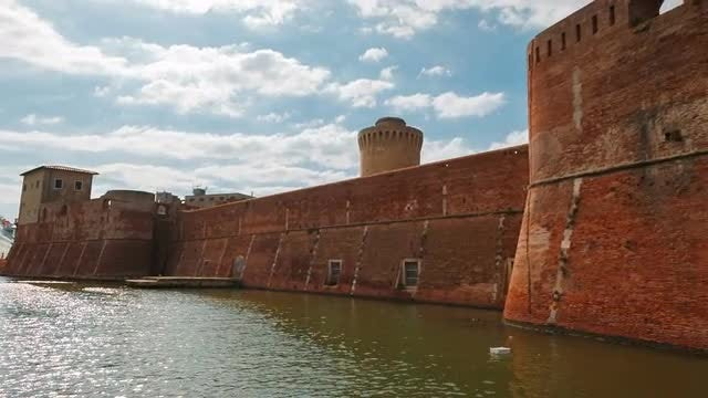 Medieval Fortress By The Sea: Stock Video