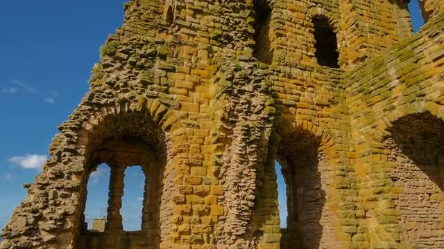 Medieval Castle In Northern England: Stock Video