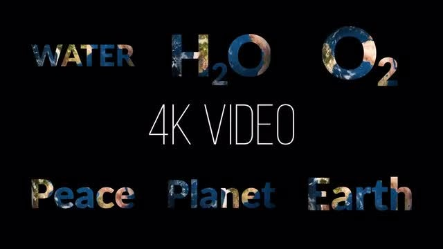 6 Earth Words Pack: Stock Motion Graphics