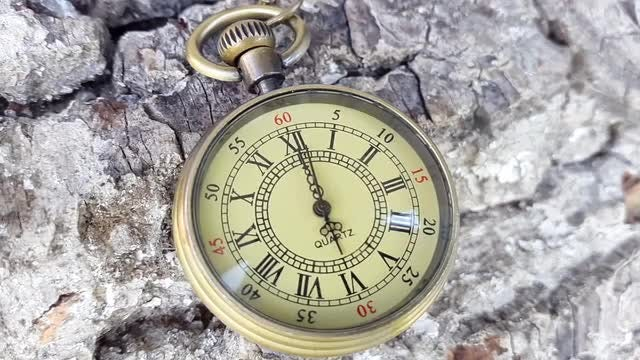 Golden Pocket Watch: Stock Video