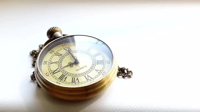 Time Lapse Of Pocket Clock: Stock Video