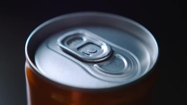 Man Opens A Can Of Soda: Stock Video