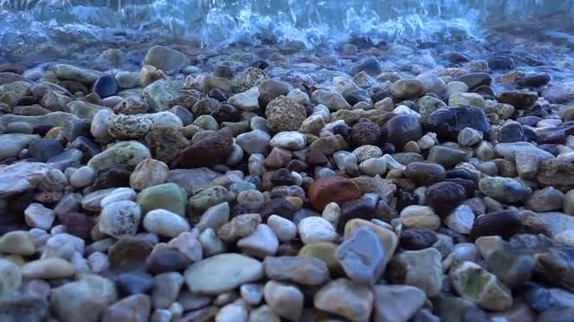 Little Stones And Sea Waves: Stock Video
