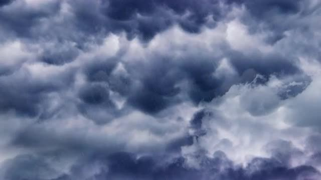 Dark Storm Clouds And Lightning: Stock Motion Graphics