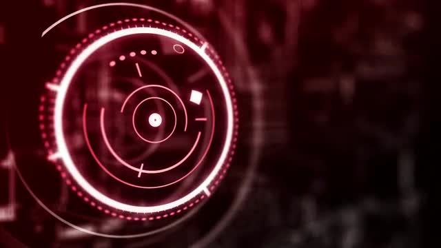 Circular Hologram Interface Abstraction: Stock Motion Graphics