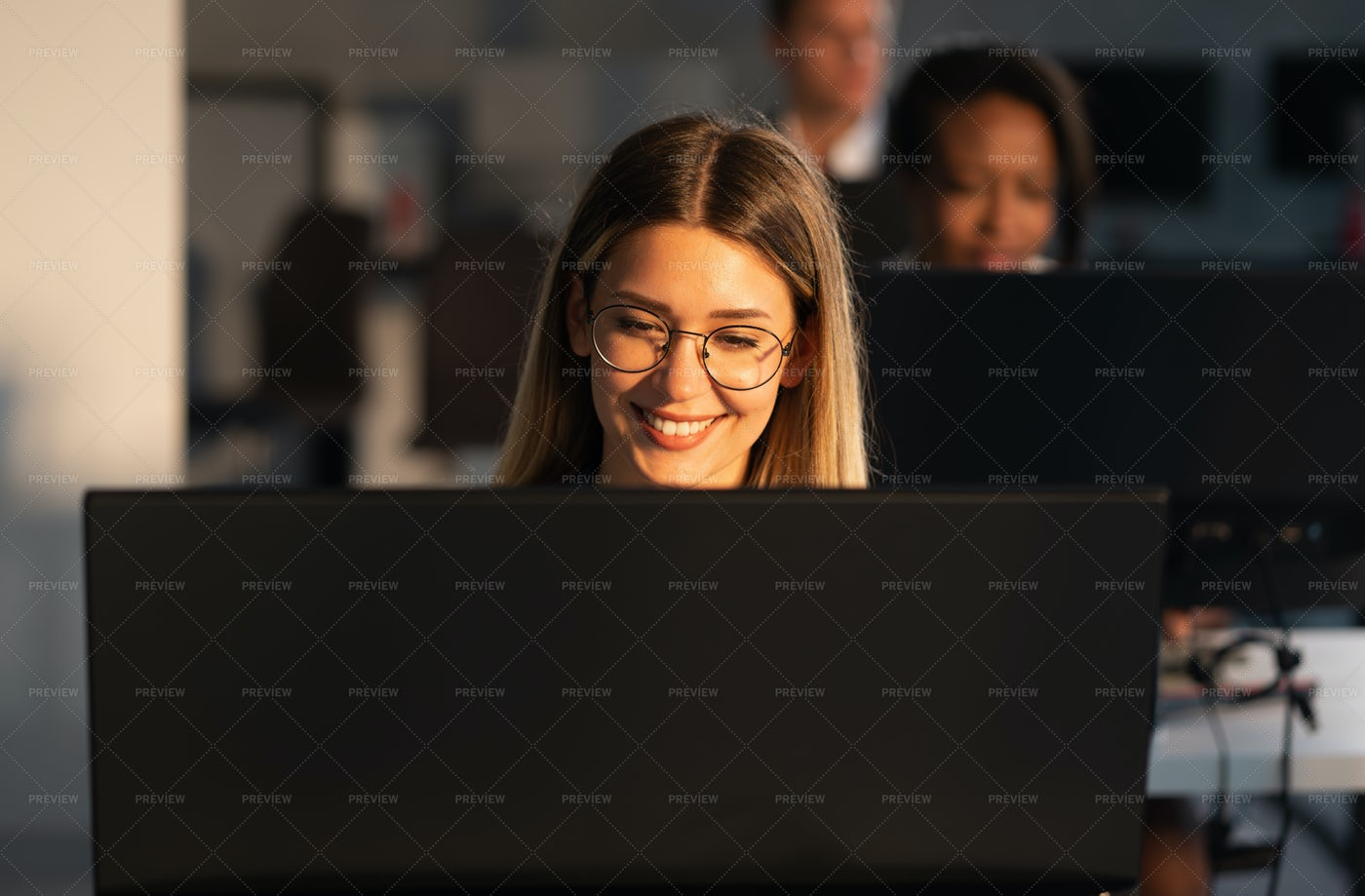 A Cheerful Businesswoman: Stock Photos