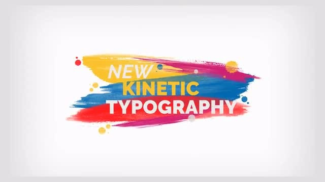 Brush Kinetic Typography: Motion Graphics Templates