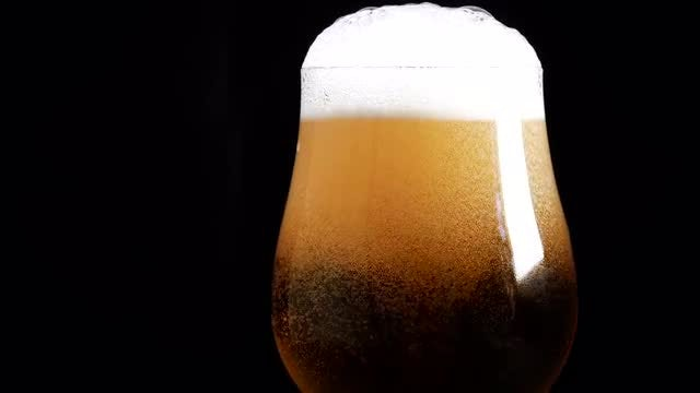 Beer Being Poured On Closeup: Stock Video