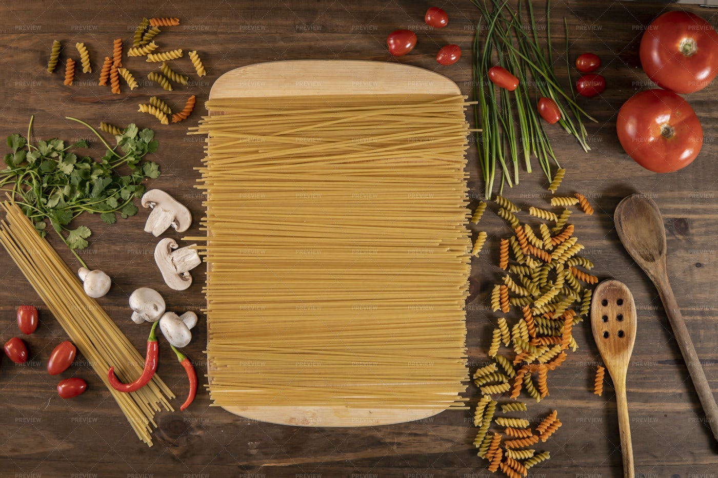 Vegetables And Pasta: Stock Photos