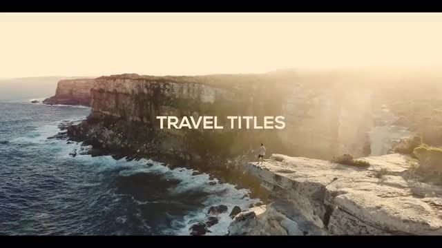 Travel Titles: Premiere Pro Templates