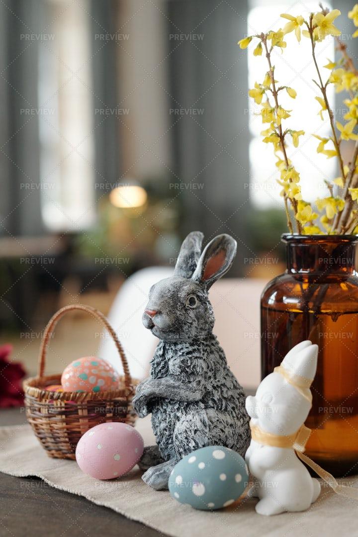 Two Toy Rabbits: Stock Photos