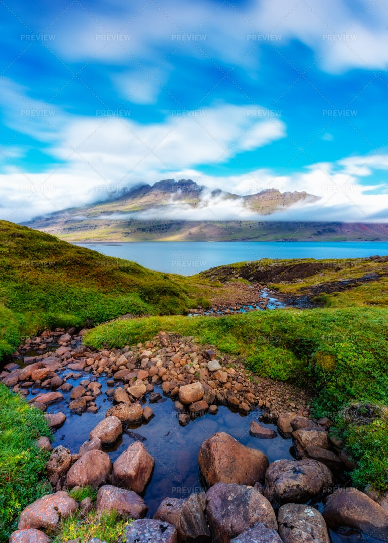 Small River In Iceland: Stock Photos