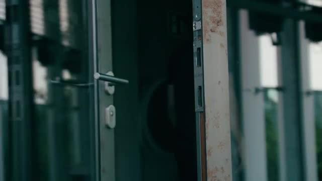 Man Entering A Building: Stock Video