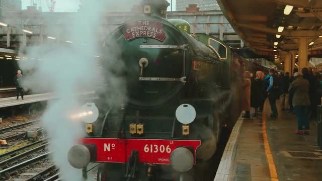 Passengers Boarding Steam Train: Stock Video