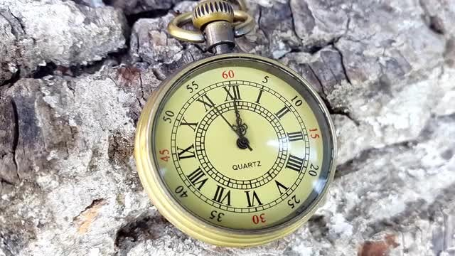 Golden Pocket Clock: Stock Video