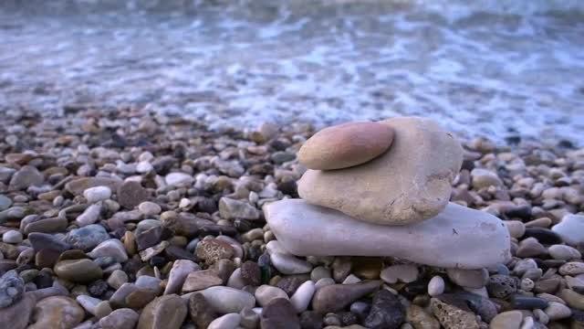 Close-up Shot Of Beach Rocks: Stock Video