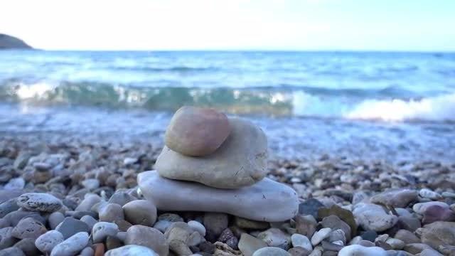 Beach Stones And Pebbles: Stock Video