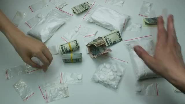 People Paying For Hard Drugs: Stock Video