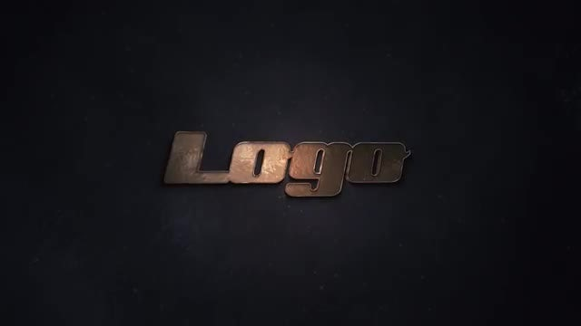 Dark Aged Metal Logo: After Effects Templates