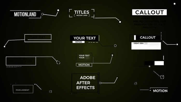 Callout Titles: After Effects Templates