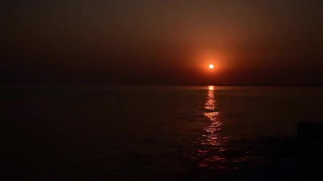 Time Lapse Of Beach Sunset : Stock Video