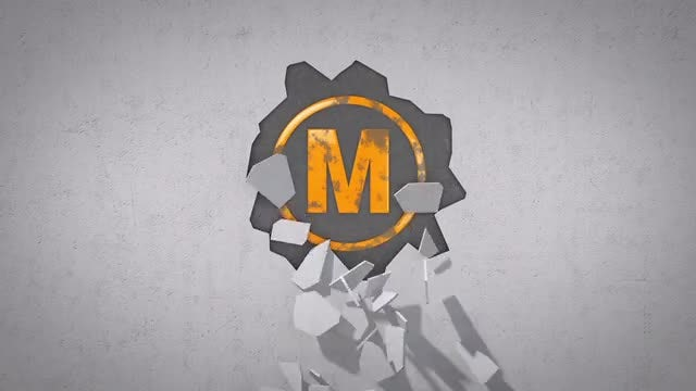 Broken Wall Logo: After Effects Templates