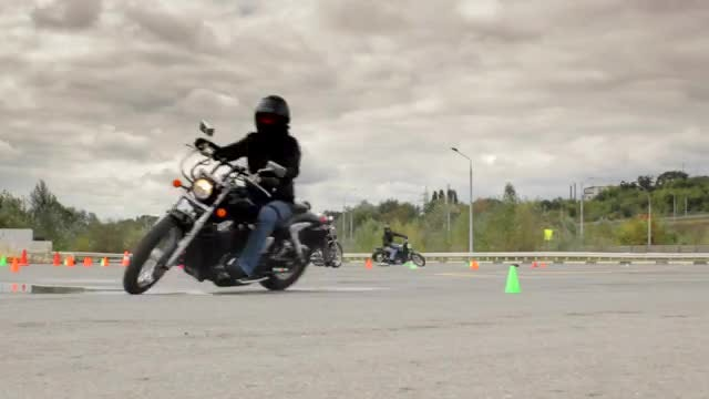 Riders Training For Motorcycle Races : Stock Video