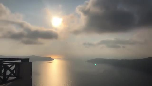Santorini Island In The Evening: Stock Video