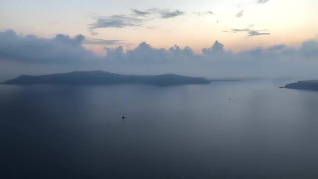 Santorini Island Evening View: Stock Video
