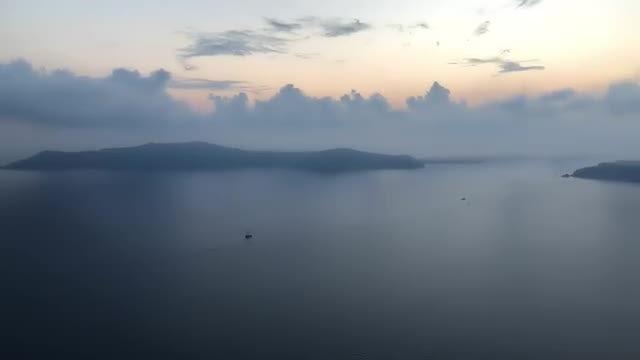 Santorini Island Evening View: Stock Video