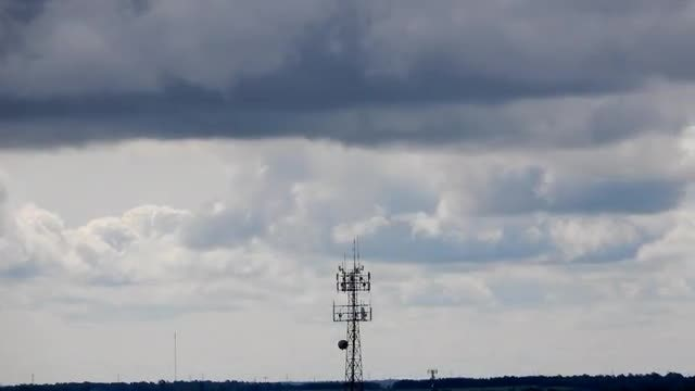 Clouds Over Cellular Tower : Stock Video
