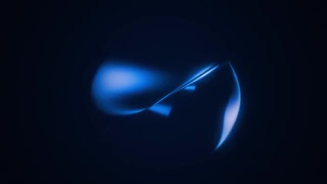 Rotating Glowing Figure: Stock Motion Graphics