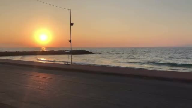 Beautiful Sunset Over Calm Sea: Stock Video