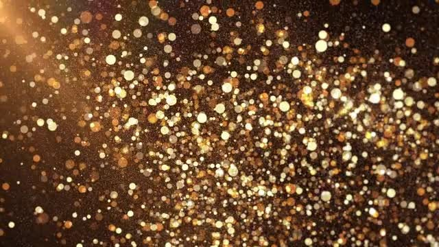 Golden Particles Background: Stock Motion Graphics