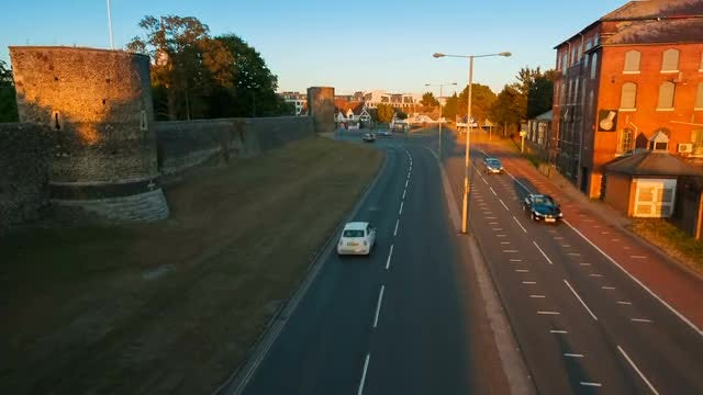 Wide-angle Shot Of Busy Highway : Stock Video