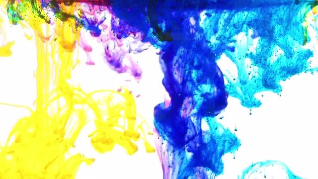 Colorful Ink Spreading In Water: Stock Video