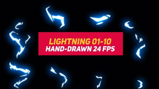 Liquid Elements 3 Lightning 01-10: Stock Motion Graphics