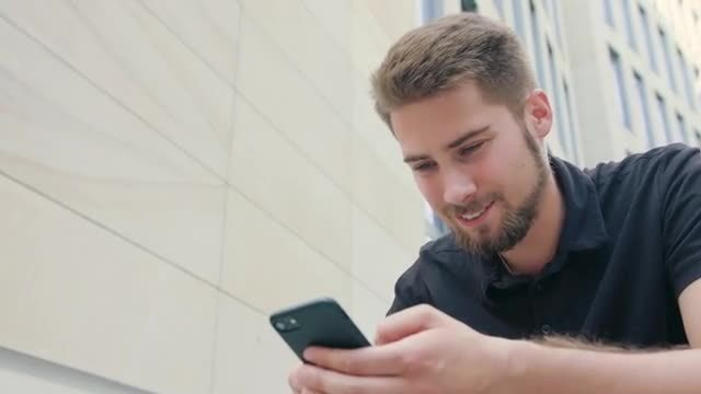 Close-up Of Man Using Smartphone: Stock Video