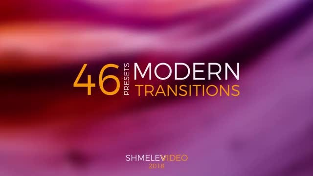 Modern Transitions Presets: Premiere Pro Presets