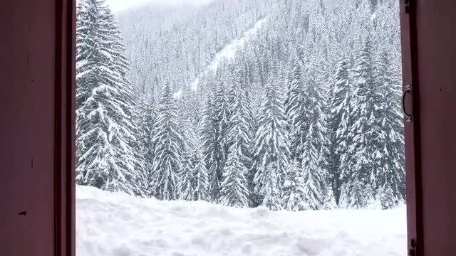 Revealing A Winter Mountain Landscape: Stock Video