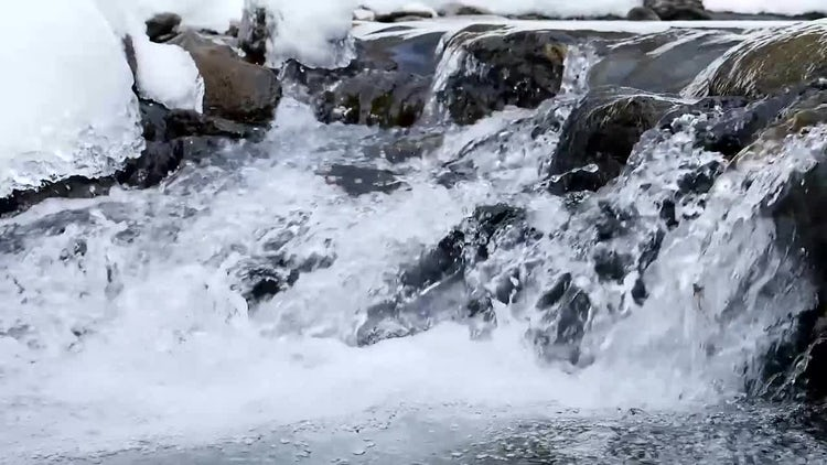 Icy River In Winter: Stock Video