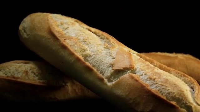 Freshly Baked Bread Rotating: Stock Video