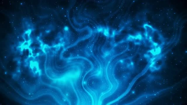 Abstract Space With Particles Loop: Stock Motion Graphics