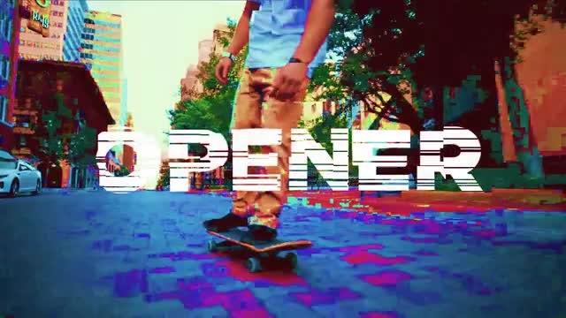 Intro Glitch Opener : Premiere Pro Templates
