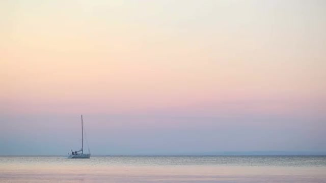 Yacht Sailing In Calm Ocean: Stock Video