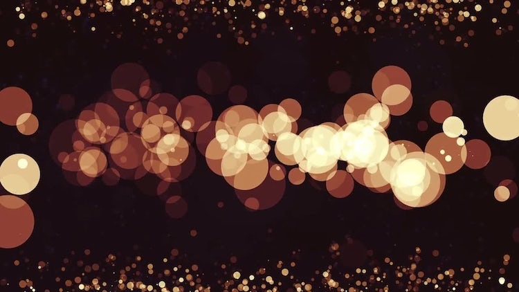 Flat Warm Particles: Stock Motion Graphics
