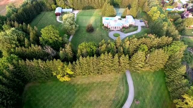Aerial Of Luxury Residential Homes : Stock Video