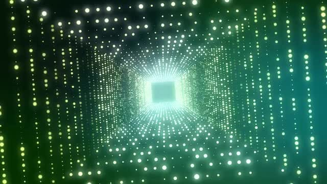 Square Light Tunnel Background: Stock Motion Graphics