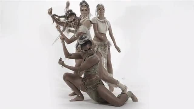 Glamorous Modern Exotic Group Dance : Stock Video