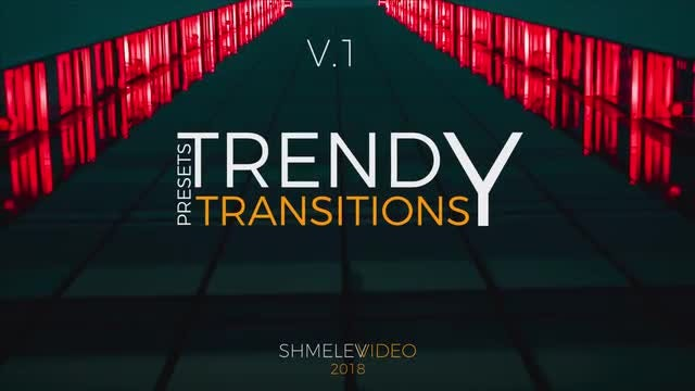 Trendy Transitions V.1: Premiere Pro Presets